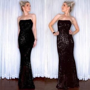 AmandaRSowards Dresses - Black Sequin Fitted Pageant Prom Homecoming Dress